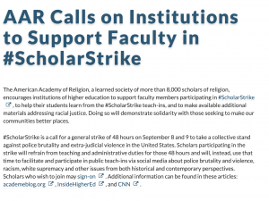 AAR Calls on Institutions to Support Faculty in #ScholarStrike